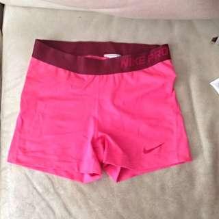 FREE POST Pink Nike Pro Sz M