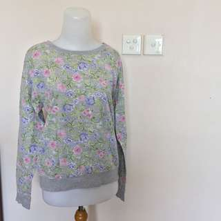 HnM flower sweater