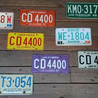 Vintage Americana。復古事 美國進口 各式老車牌 每面400 多買多折扣
