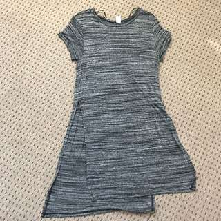 H & M T-shirt Dress With Slit On Both Sides