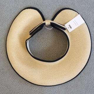 Womens Straw Visor Sun Hat