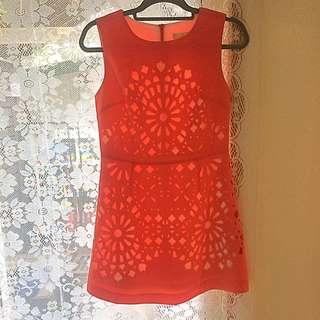 Bright Orange Dress Size 8