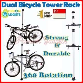 Dual Bicycle Tower Rack Stand/Bike Stand