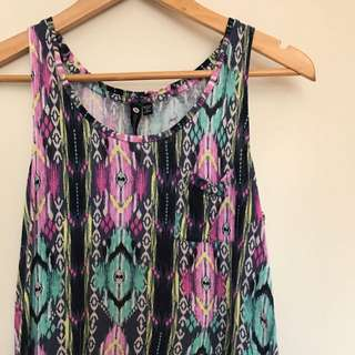 Tribal Patterned Crop Top Cotton On Small