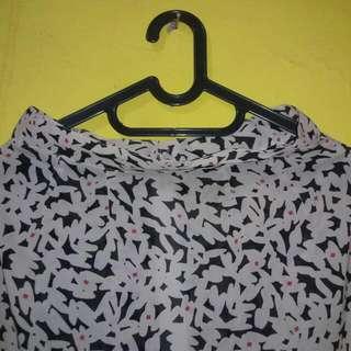 REPRICE - Slit Skirt Flowery