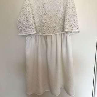 White Lace Dress Bettina Liano Size 6