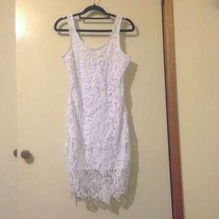 White Lace Dress Sz8