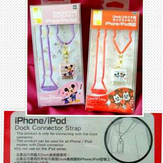 SALE!!! AUTHENTIC iPhone/iPod DISNEY Dock Connector Strap - Mickey and Minnie Mouse