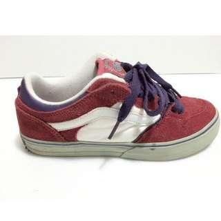 🚚 二手 Vans 紅白配色麂皮板鞋 Size:37