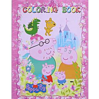 Peppa Pig coloring book colouring book with stickers colored background children book children gift goodie bag