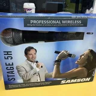 BNIB Samson Stage 5H Professional VHF wireless Handheld Microphone