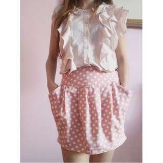 Cute frilly blouse top