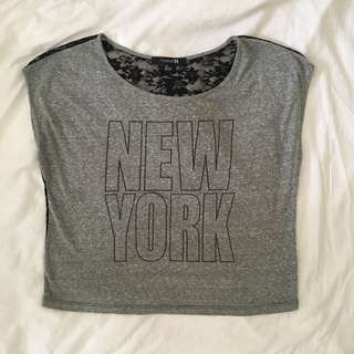 Forever 21 New York Lace Back Top