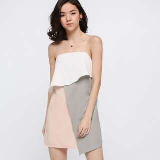 Love Bonito Lanse Layered Colour Block Dress (Not For Sale)