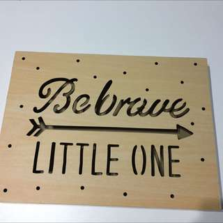 Be Brave-light Up Shadow Box