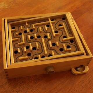 Labyrinth Wooden Board Game