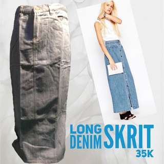 Long Denim Skrit 30k
