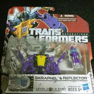 Transformers Skrapnel Reflector Generations Combiner Wars Titan Returns