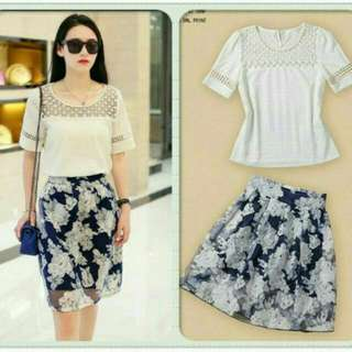 SATU SET BLOUSE PLUS SKIRT