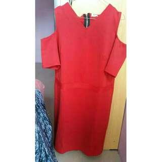 DRESS BIGSIZE MERAH MERK MYSIZE
