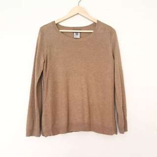 SUSSAN Camel Knit Top Size XS