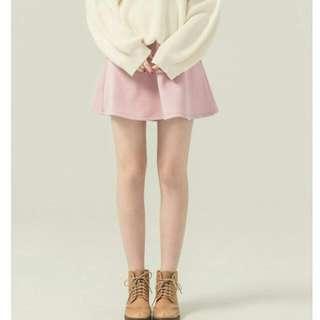 PAZZO MIT 俏女孩太空棉傘裙 夢幻粉 鬆緊腰設計 一般體型皆可喔 超修身 短裙 甜美浪漫 全新