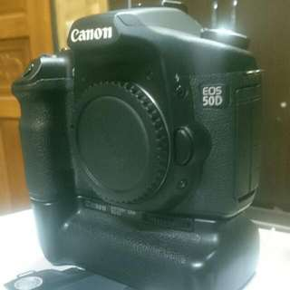 Canon 50D Body + Battery Grib
