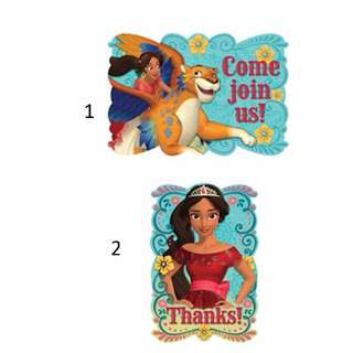 (Pre-Order)   Elena of Avalor Licensed Invitations and Thank You Notes