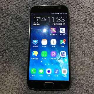 Samsung 三星 S7 黑色 32GB  Ip58防水包膜機 完整盒裝