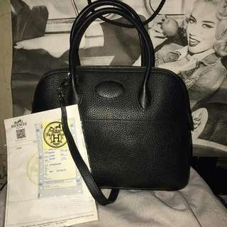 hermes black bollide not ori but mirror excelent quality