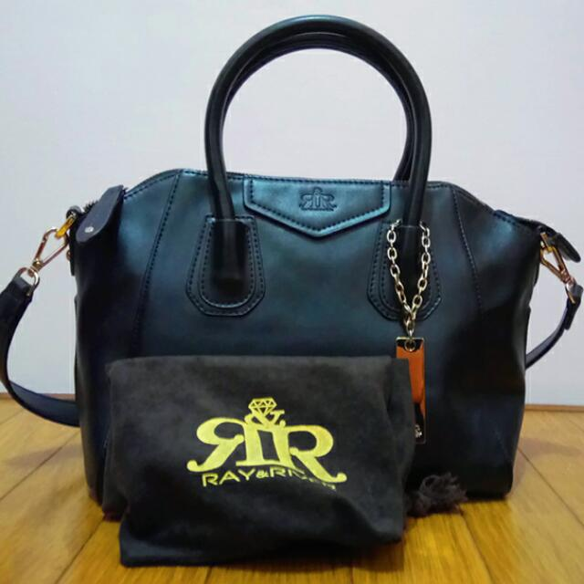 2R 真皮側背手提包