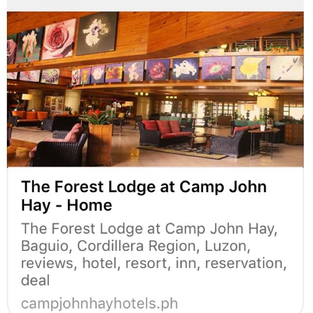 3D2N Stay in Forest Lodge Baguio