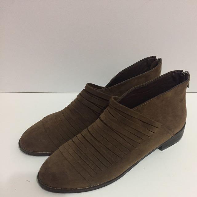 韓國麂皮踝靴