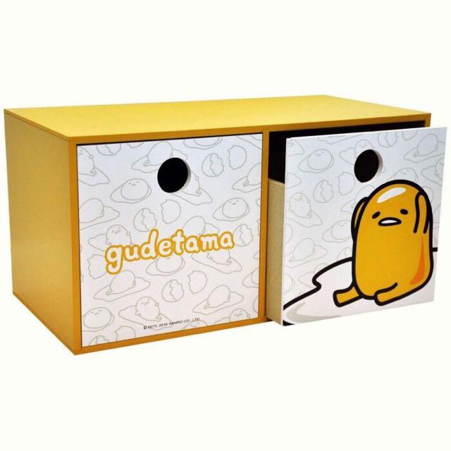 蛋黃哥橫式雙抽盒