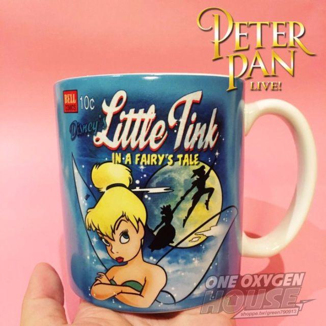 稀有 迪士尼 小飛俠 彼得潘 小精靈 小仙子 杯子 水杯 馬克杯 玻璃杯
