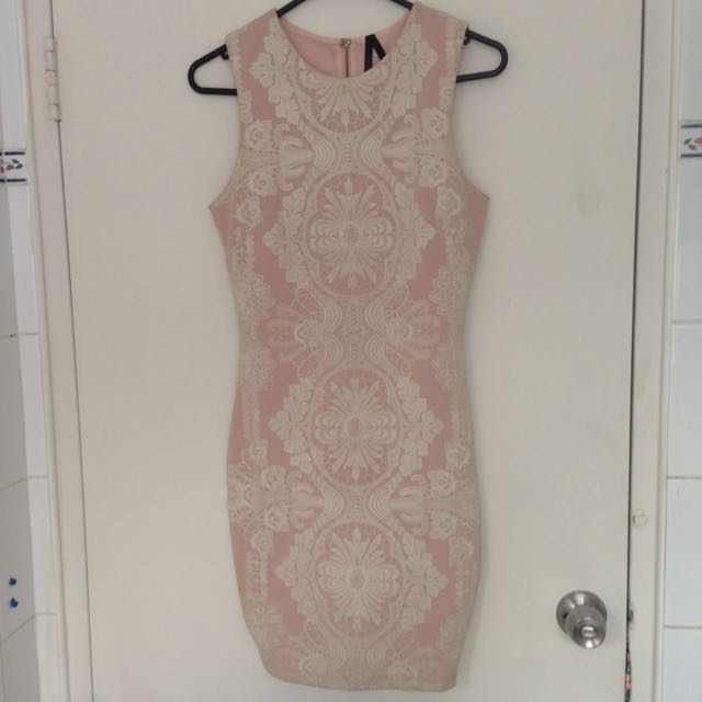 ALLY Pale Pink Bodycon Dress