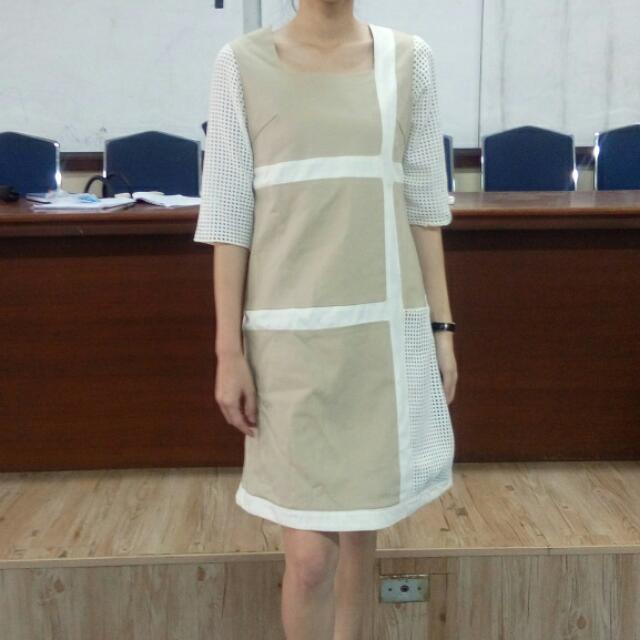Asymmetric Nude Dress