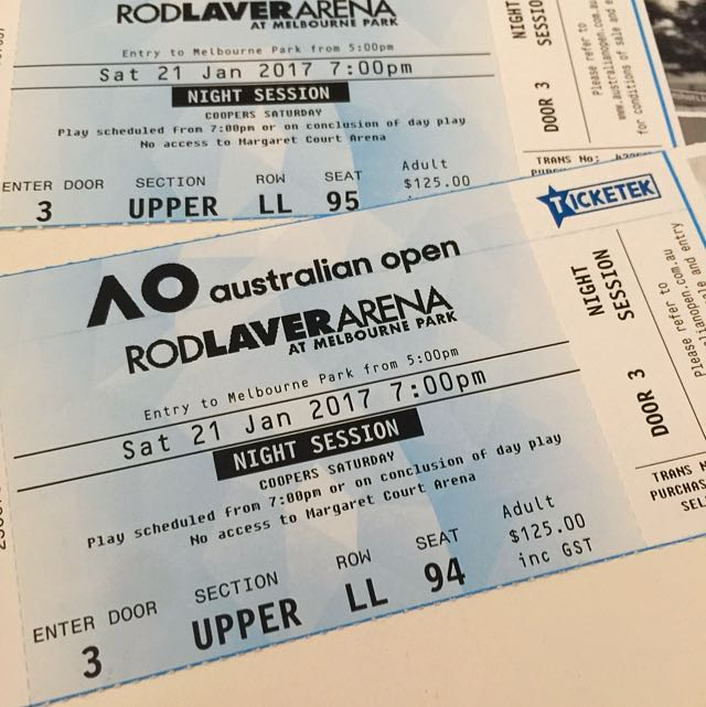 Australian Open Tickets x2