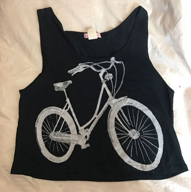 Bicycle Printed Crop Top