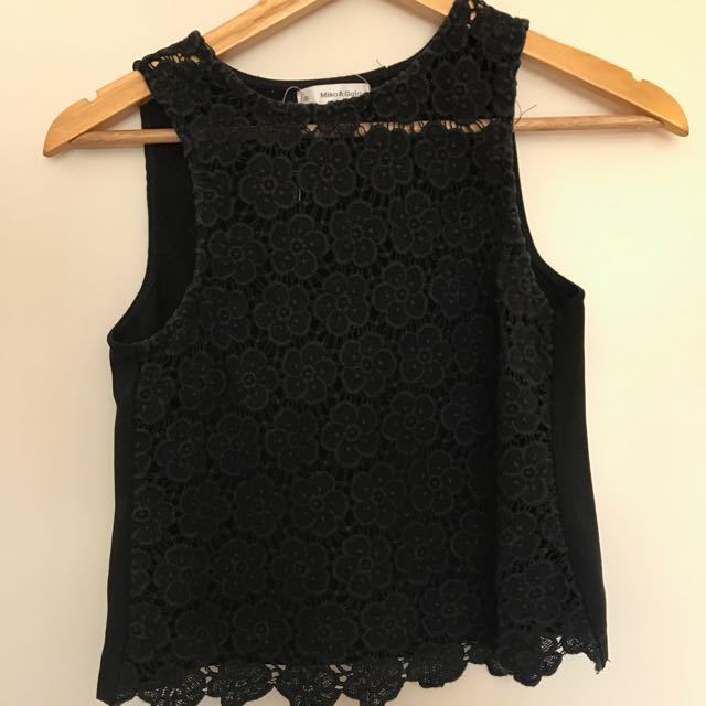 Black Crop Top From Mika And Gala Size 8