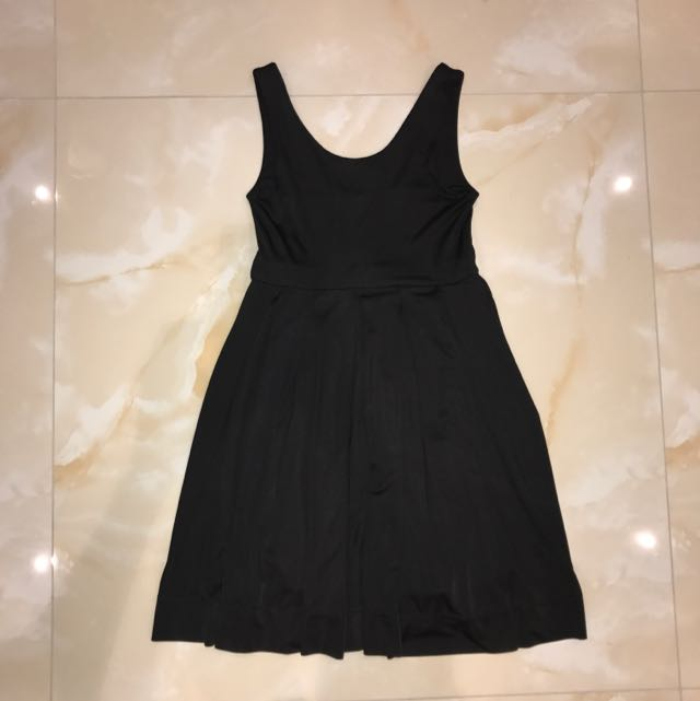 Black Dollhouse Pleated Mini Dress