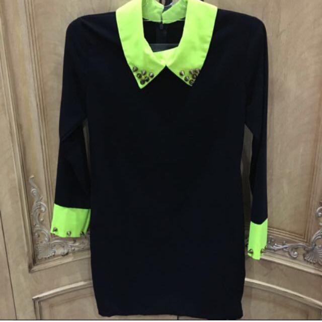 Black Neon Dress