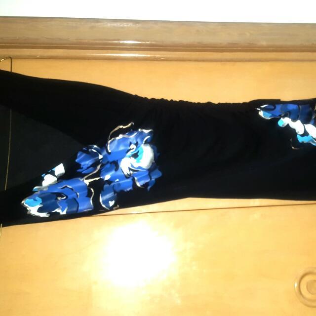 Blue Floral Tank Dress