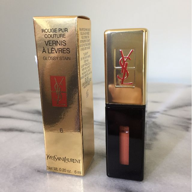 BNIB YSL Rouge Pur Couture Glossy Stain (Lipstick) - 6 Camel Croisiere