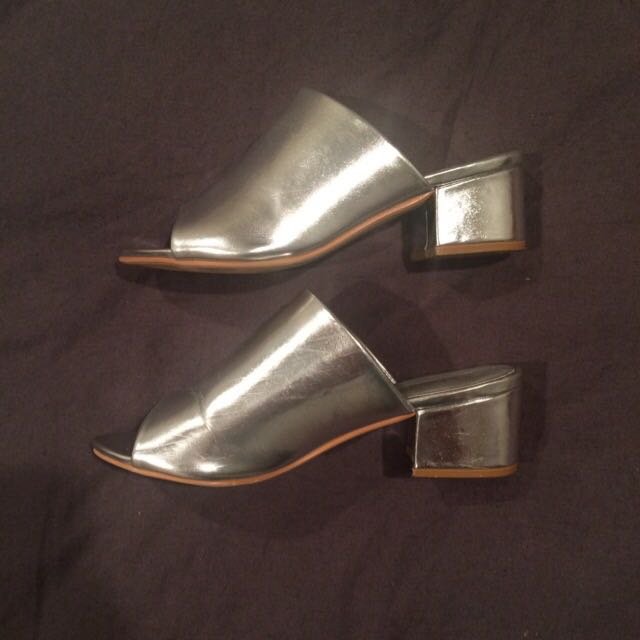Metallic Mules- Boohoo