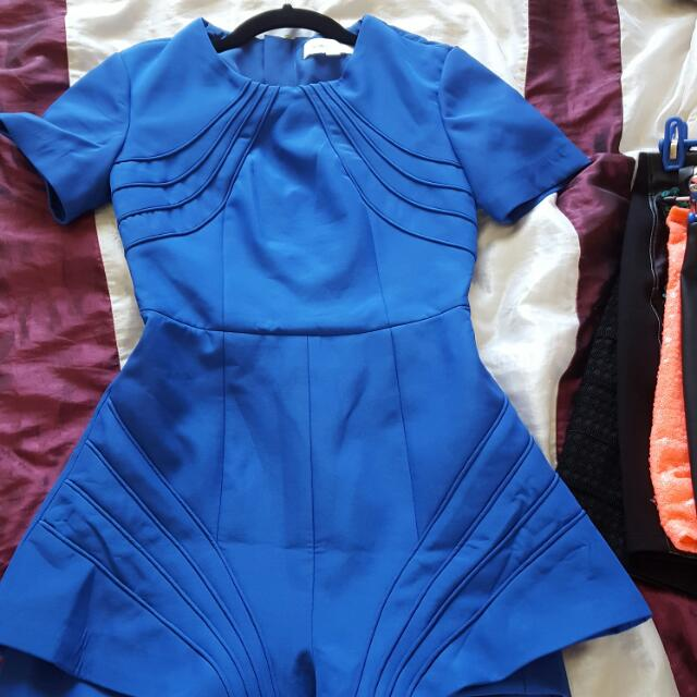 Bright Blue Playsuit