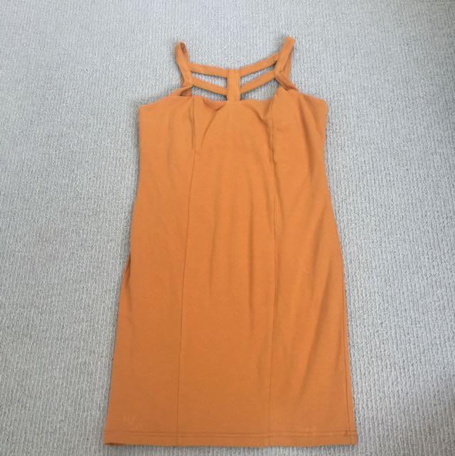 Burnt Orange Supre Dress
