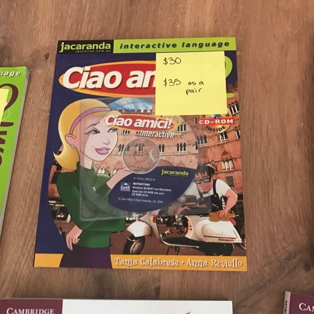Ciao Amici 2 Workbook And Textbook
