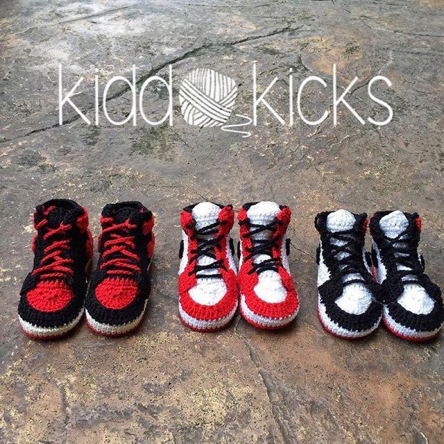 Crocheted Nike Air Jordan1