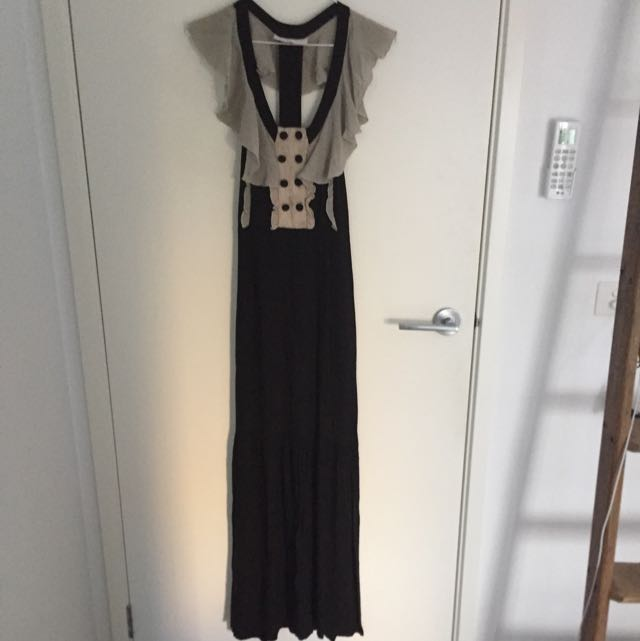 Exposed back maxi (This is Genevieve)